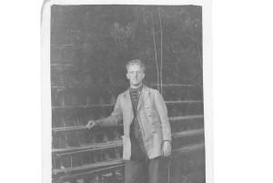 Helge_Andersson_vid_Korskopplingen_circa_1934